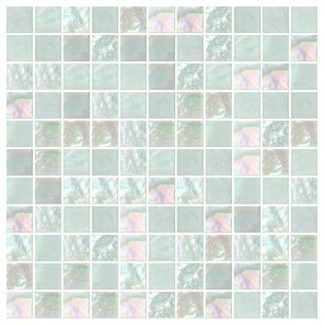 "Luna Off-White 1"" Grid, Full Sheet contemporary-mosaic-tile"