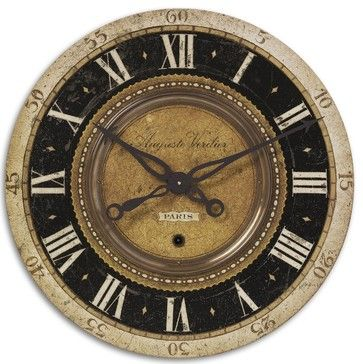 """Oversize Tuscan Old World Gallery Wall Clock 27"""" transitional-wall-clocks"""