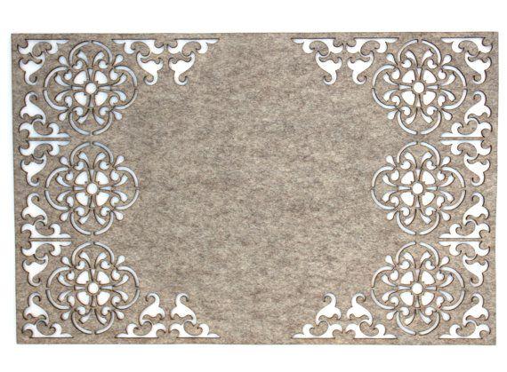 Laser Cut Felt Placemats 100 Grey Wool Felt by PPointCreates