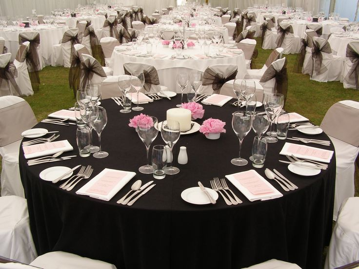 Black Wedding Linen