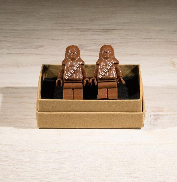 Star Wars Cufflinks, Star wars gift, Chewbacca gift, Chewbacca Cufflinks, gifts for him, geek gift, Lego Style, gifts for him