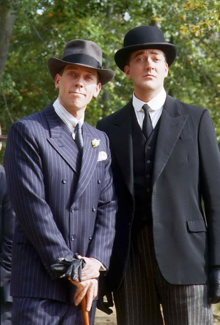 Hugh Laurie and Stephen Fry...The best Jeeves and Wooster, based on P.G. Wodehouse characters.