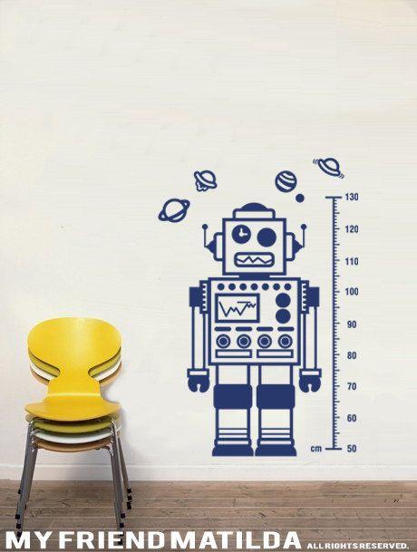 Robot M003 Wall Decal Sticker Nursery children by MyFriendMatilda