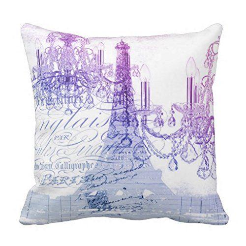 Modern Purple Chandelier Paris Eiffel Tower Pillow Case Paris Home D Cor Is More Popular Than Ever