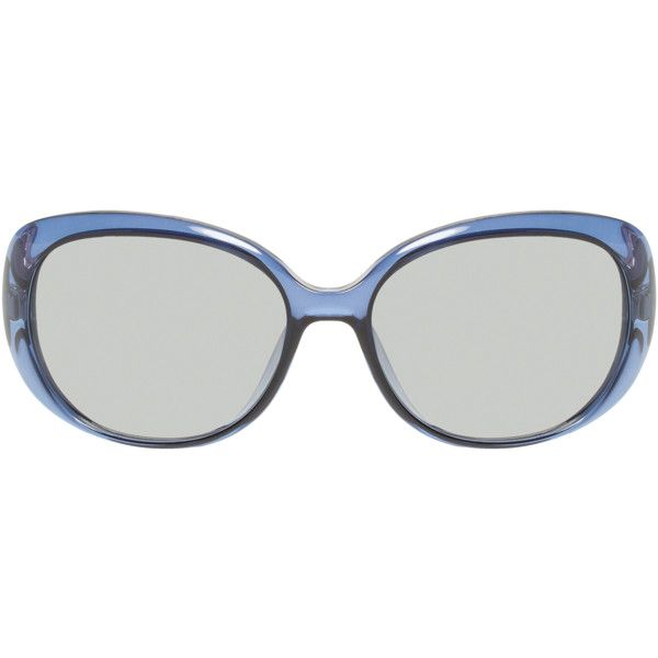 Gucci Women's Diamante Oval Frame - Blue ($189) ❤ liked on Polyvore featuring accessories, eyewear, sunglasses, blue, tinted glasses, blue lens sunglasses, uv protection glasses, acetate sunglasses and oval glasses