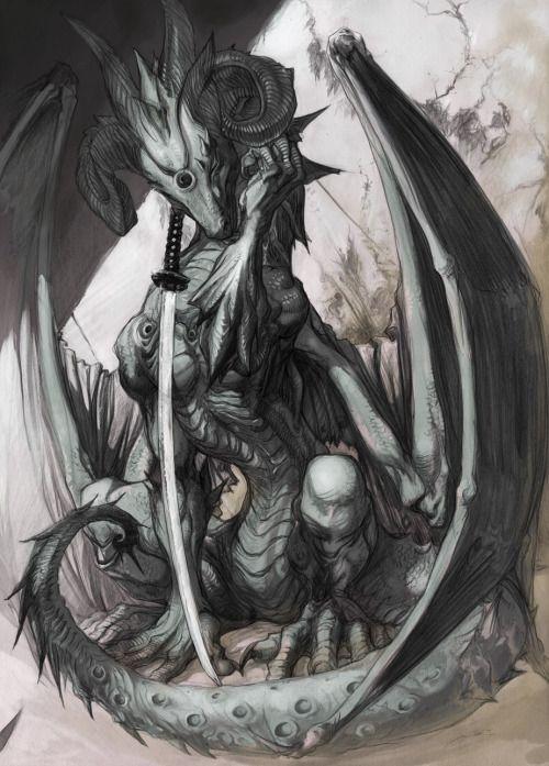 awesomedigitalart:Dragon Sabre by rinpoo-chuang http://ift.tt/2cZo0Tb