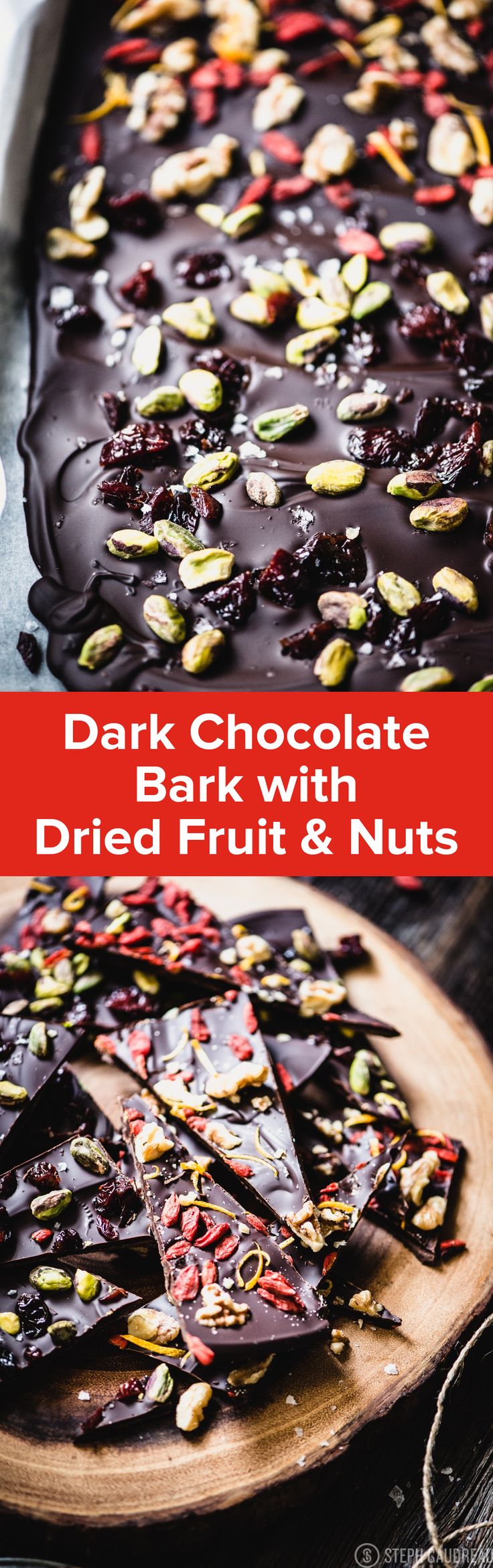 Dark Chocolate Bark Recipe | StupidEasyPaleo.com