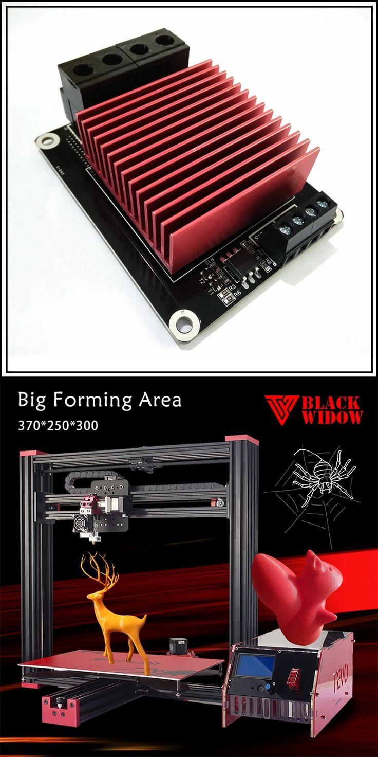 2017 Newest Tevo Black Widow Large Printing Size Imprimante 3D Printer Diy 3D Metal Printer OpenBuild Aluminium Extrusion & GIFT