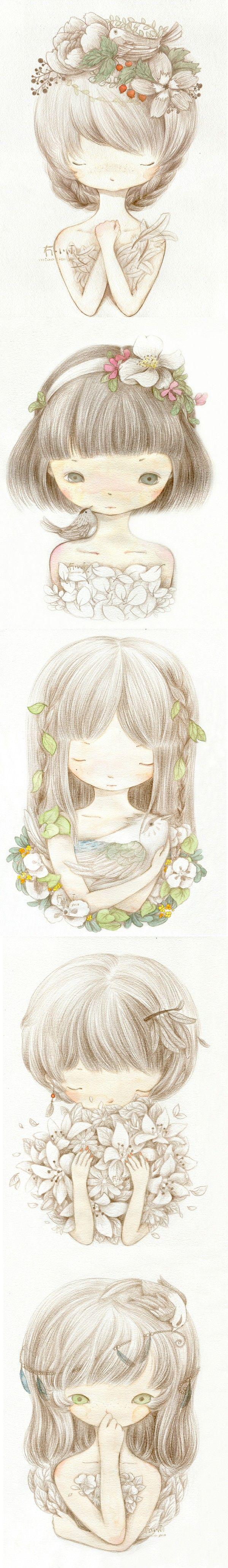 lovely little illustration girls