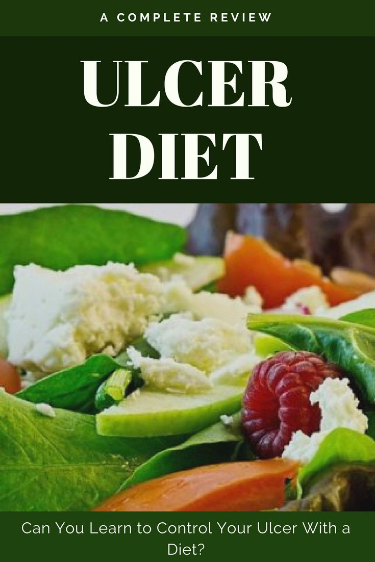 Peptic ulcer (stomach ulcer) diet and recipes