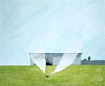 David Hockney, Lawn Sprinkler, 1966