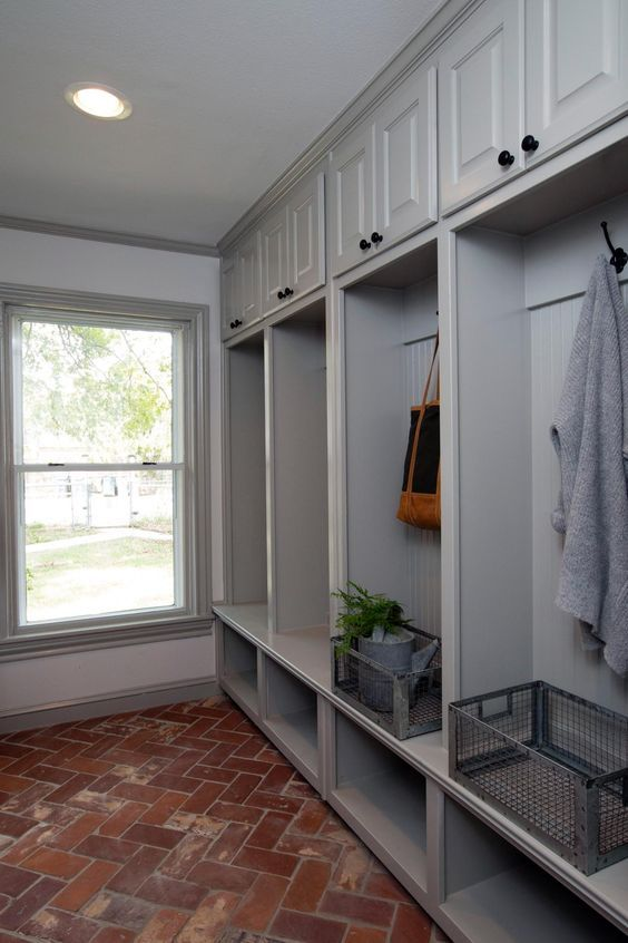Beautiful laundry & mud room. A 1940s Vintage Fixer Upper for First-Time Homebuyers | HGTV's Fixer Upper With Chip and Joanna Gaines | HGTV: