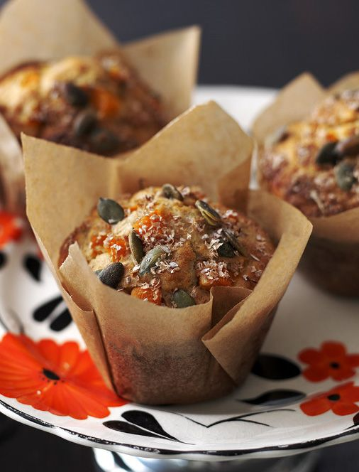 Had enough sweets? These fragrant rosemary pumpkin muffins are only slightly sweetened with honey.