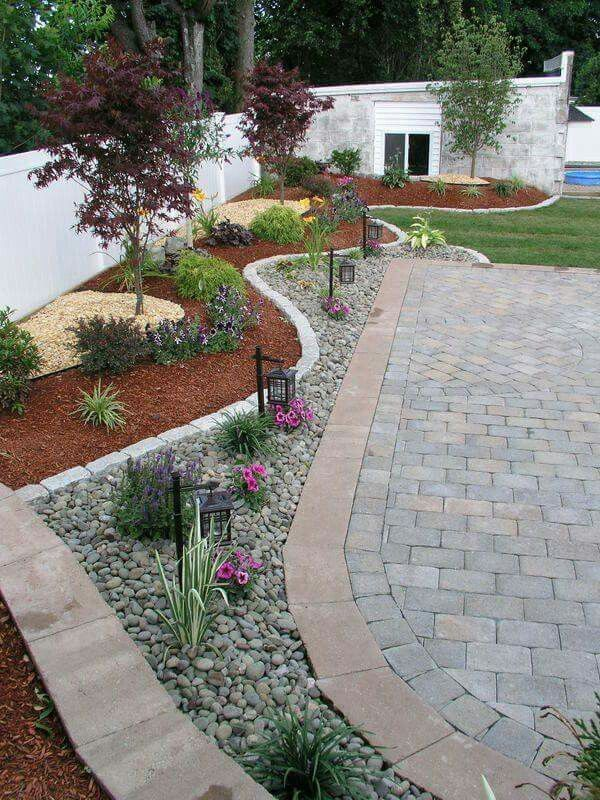 Simple Garden Ideas With Pebbles Pin And More On Landscape Intended Design Decorating