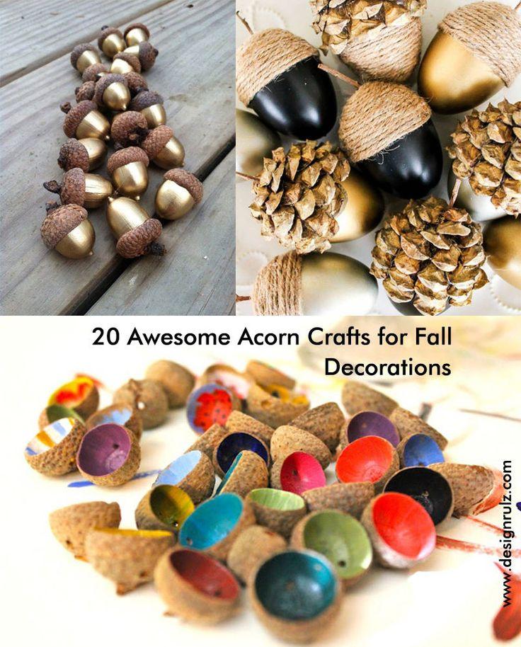 216 best ideas about waldorf autumn on pinterest needle for Acorn decoration ideas