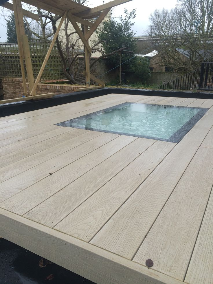Walk on skylight and the decking on the roof terrace.