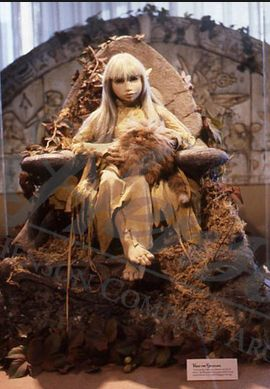 """Original """"Wendy Froud"""" prop used in Jim Henson's film """"The Dark Crystal,"""" 1982. Photo: """"The World of the Dark Crystal"""" exhibit at the Lincoln Center Library, 1982."""