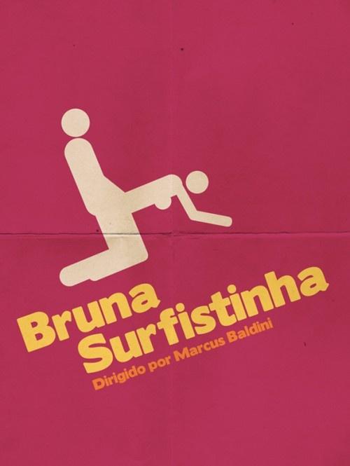 Cartazes minimalistas de filmes brasileiros 5 - Bruna Surfistinha