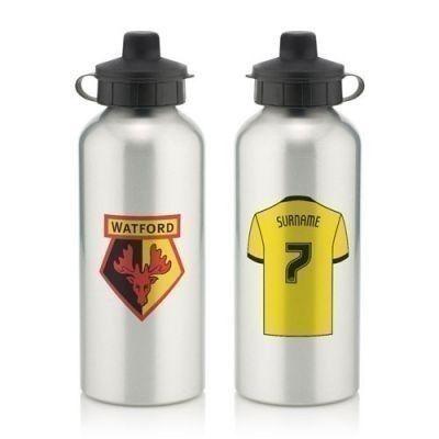 Personalised Watford Aluminium Water Bottle (600ml) #FootballGifts #Watford  £12.99