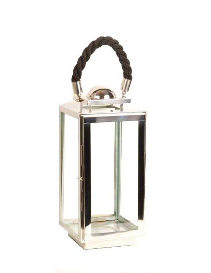 LYKTA - silver, Klassisk, metall/glas (38cm) - Ambia Home