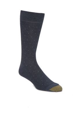 Gold Toe  Textured Pin Dot Crew Socks - Single Pair