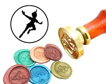 Peter Wax Seal Stamp Pan Sealing Wax Stamp Kit Movie Wax Stamp Custom Initial Date Wedding Invitation Wax Seal Kit Personalized Wax Stamp