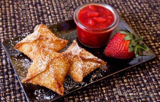Strawberry Cheesecake Wontons