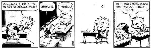 """Calvin and Hobbes, """"Susie Derkins"""" -- Imadoofus."""