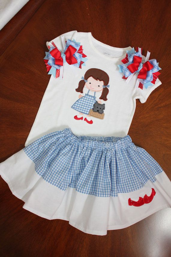 The Wizard of Oz Dorothy Gingham Twirl Skirt by BittyBittyBumBum, $58.00