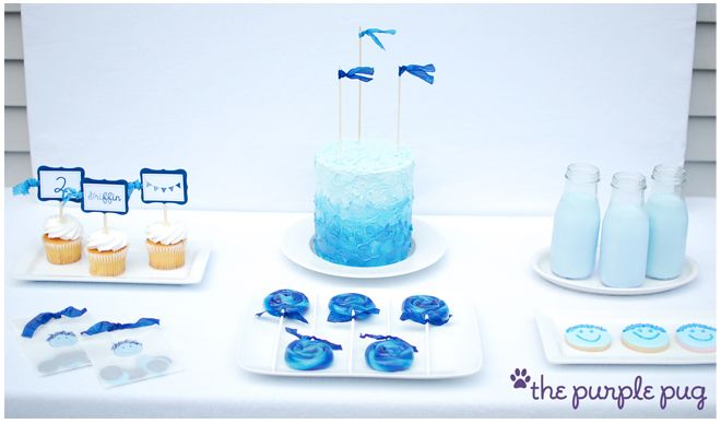 """""""shades of blue"""" birthday party - gorgeous!"""
