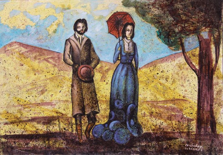 Madame Bovary y León paseando - Angelo Dulay