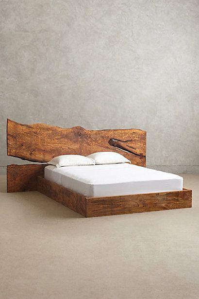 Anthropologie Eu Live Edge Wood Queen Bed Basement Suite