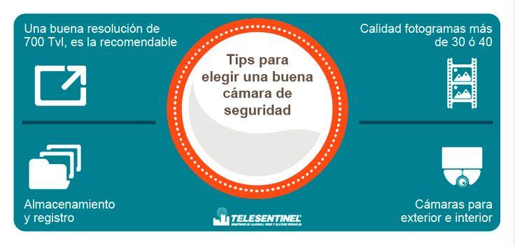 Tips para elegir la mejor cámara.  Pregúntanos por nuestros combos y te damos un estudio de seguridad sin ningún costo. www.telesentinel.com