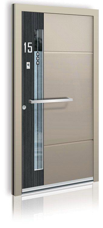 Bei Onlineshop www.1001-tuer.de erhalten unsere Kunden ab sofort die neuen hochwertigen Haustüren von Inotherm aus Aluminium mit edlem Holzdekor Makassar.  Abb. MAKASAR Schwarz