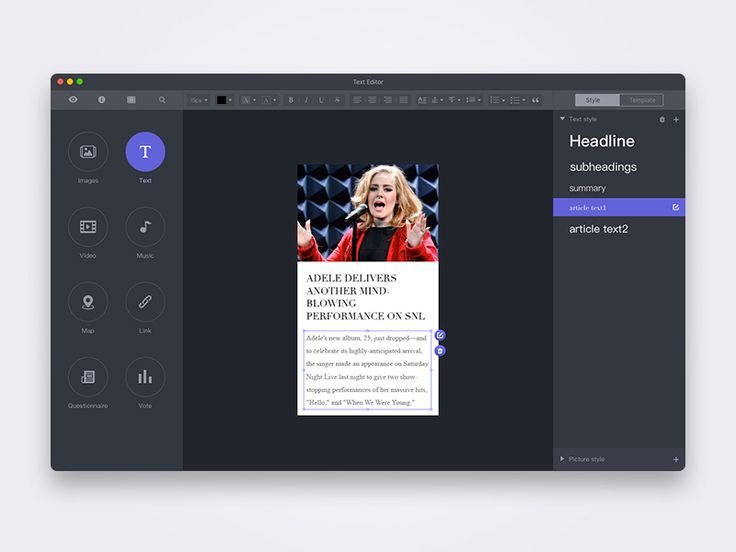 Text Editor UI by emofun