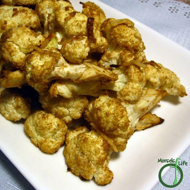 Morsels of Life - Balsamic Parmesan Roasted Cauliflower - Cauliflower, coated…