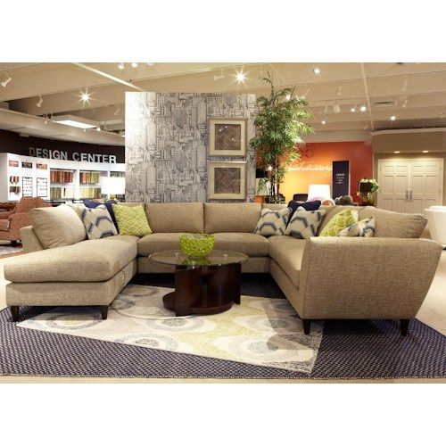 Crisp Contemporary Modular Sectional Sofa Can Be Rearranged To Fit Your Living Room Design