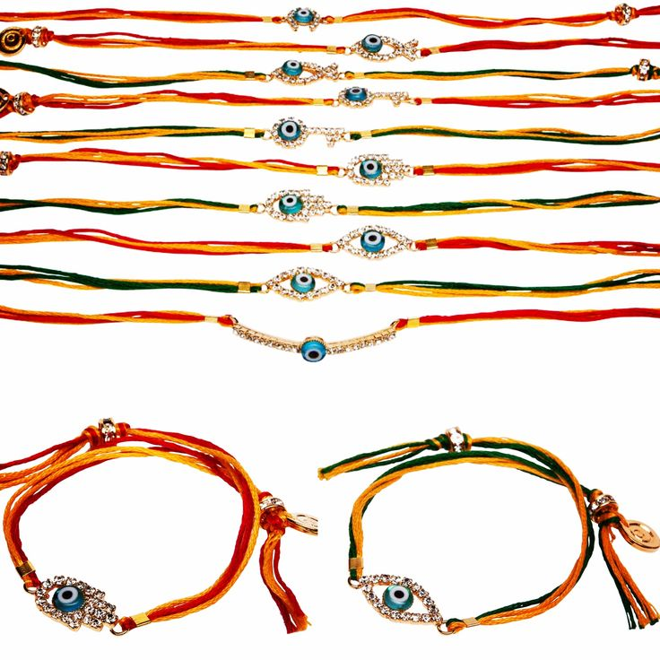 Happy rakhi 🌕 protect your sibling with our #danalevy diamante lucky charm lumba rakhi bracelets today on the festival of Raksha Bandhan, celebrated on the full moon day known as Shravan Poornina according to the Hindu calendar 🌝 ❤️💛💚
