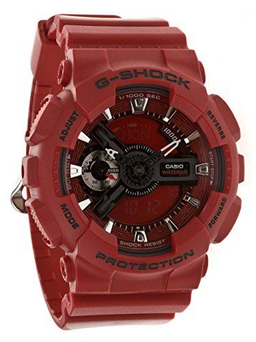 Casio G Shock GMAS110F4AER Small GShock Uhr Watch Montre Orologio -- Check this awesome product by going to the link at the image. (This is an Amazon affiliate link)