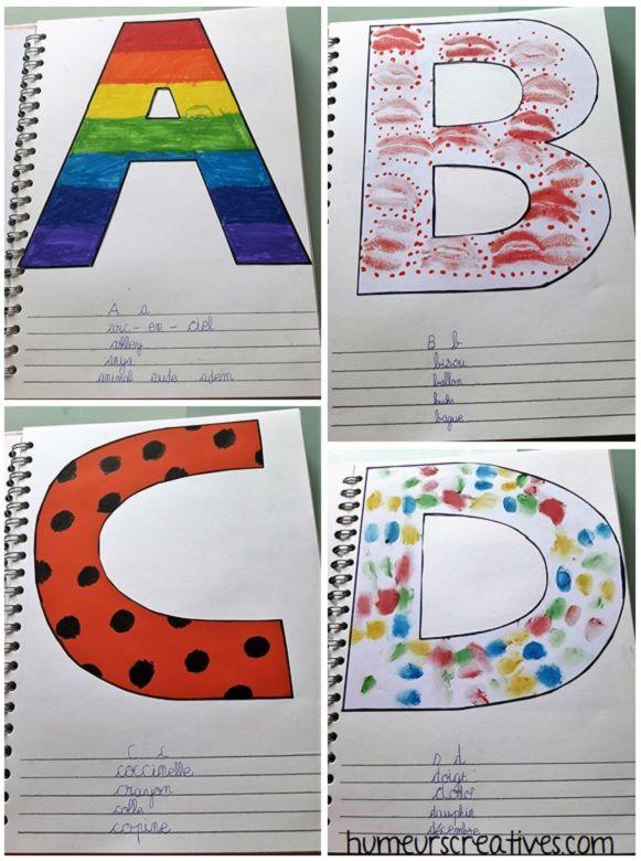 Fabriquer Un Alphabet Artistique Avec Les Enfants Abecedaire Maternelle Alphabet Maternelle Alphabet