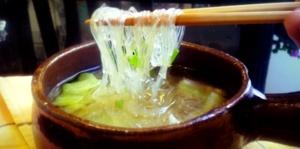 Sopa de fideos celofan | Cocina y Comparte | Recetas de @kiwiandpizza
