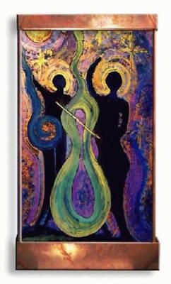 Harvey Gallery handcrafted indoor wall fountain. Beautiful Jazz player design. Each piece is a unique, handcrafted work of art. Click image for more info. Affiliate Link.