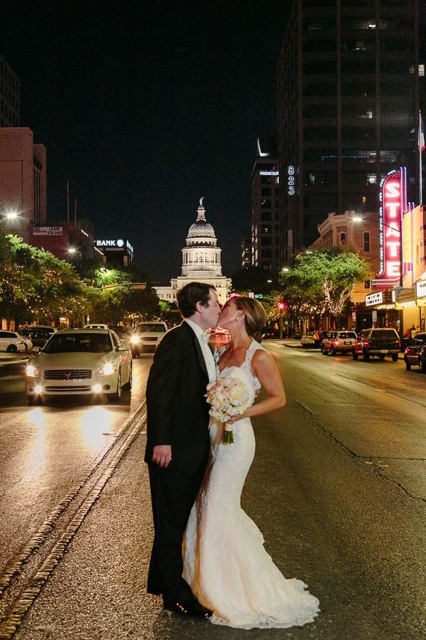 Wedding At The Stephen F Austin Intercontinental Hotel In Tx Night Shot