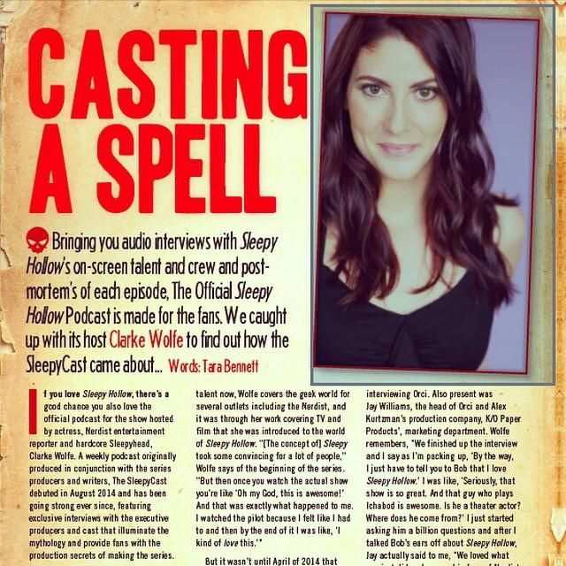 So thrilled to be talking the #SleepyCast in the new issue of @SleepyHollowMag out today! http://instagram.com/p/zNrF2AORg_/