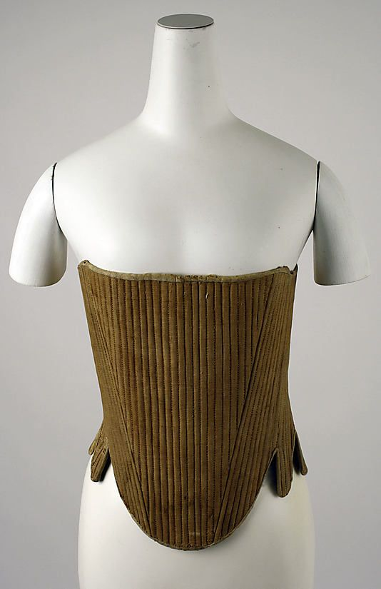 Corset  Date: late 18th century Culture: American Medium: linen, wood Dimensions: [no dimensions available] Credit Line: Purchase, Irene Lewisohn Bequest, 1970 Accession Number: 1970.106.4
