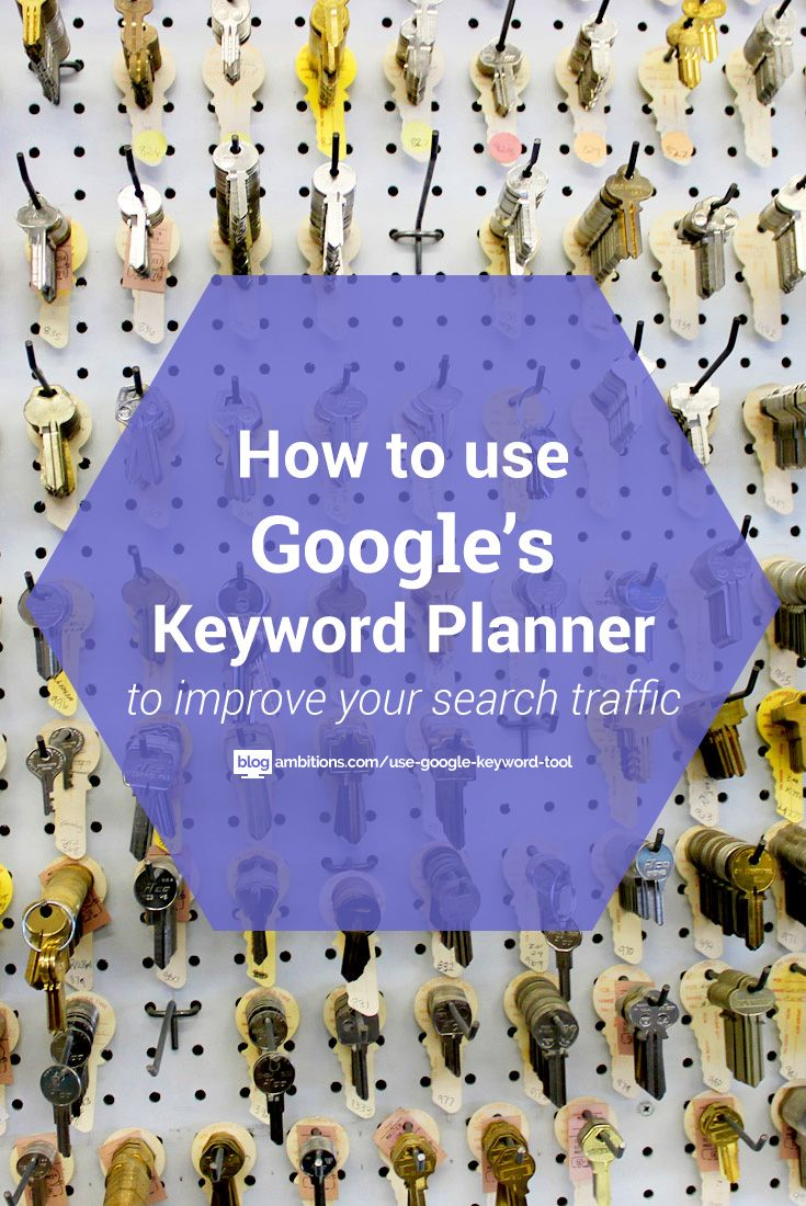 How to use google keyword planner to find keywords to use on your blog
