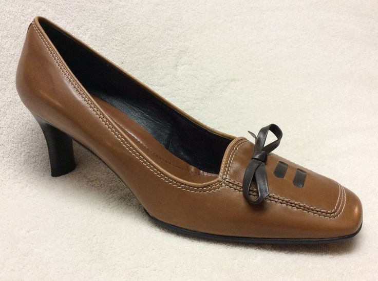 "Brown Soft Leather Cole Haan Pumps Size 7 5AA 2 5"" Heel 