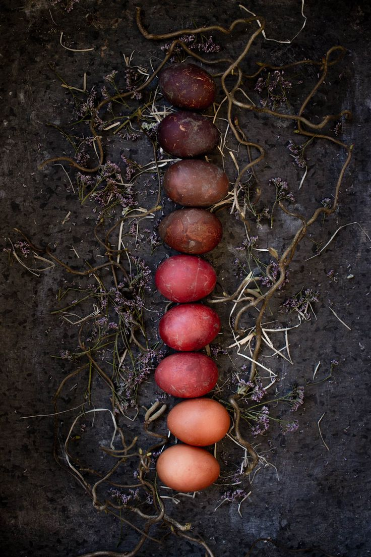 naturally dyed eggs food styling