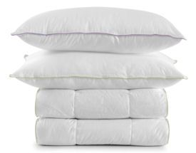 Goose and duck down filled pillows, duvets and comforters are soft and luxurious to sleep on but they do require a bit of care to keep fresh and clean. It's not advised to wash these items as frequently as you would regular bedding, but there are a few things you can do to clear out dust mites, dead skin and freshen up items that are starting to smell a bit funky.