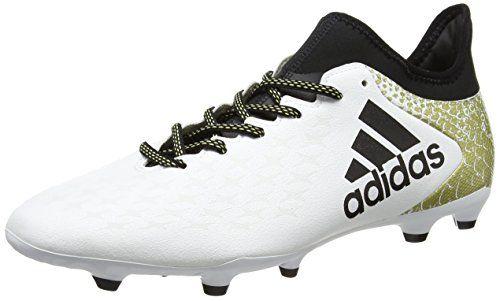 new concept 9c7e3 8940c adidas X 16.3 FG, Botas de Fútbol para Hombre, Blanco (Ftwbla   Negbas    Dormet), 42 EU